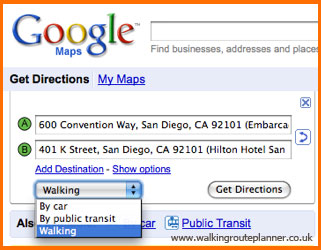 Walking Route Planner - Route planner walking google maps